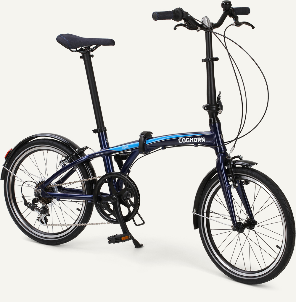 "Coghorn® Sailor Folding Bike by Citizen 20"" 7-Speed Upright Alloy Frame"